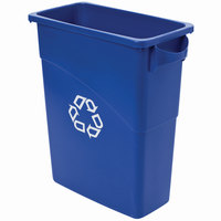 Rubbermaid 3541-73 Slim Jim Recycling Container with Handles - 15 Gallon (FG354173BLUE)