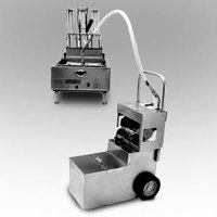 MirOil MOS 0640 70 lb. Fryer Oil Electric Filter Machine and Discard Trolley - Countertop 120V