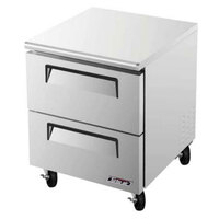 Turbo Air TUF-28SD-D2 Super Deluxe 28 inch Undercounter Freezer with Drawers - 7 Cu. Ft.