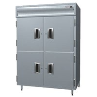 Delfield SMHPT2-SH 51.92 Cu. Ft. Solid Half Door Two Section Reach In Pass-Through Heated Holding Cabinet - Specification Line