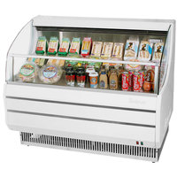 Turbo Air TOM-40S White 39 inch Slim Line Horizontal Air Curtain Display Case - 6.6 Cu. Ft.