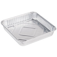 Durable Packaging 1155-35 8 inch Square Foil Cake Pan - 500 / Case