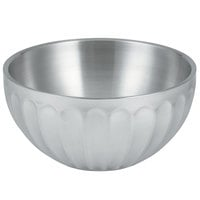 Vollrath 47689 Fluted Double Wall Round 10.1 Qt. Serving Bowl