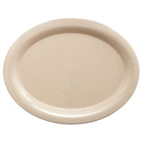 GET BAM-1950 BambooMel 9 3/4 inch x 7 1/4 inch Oval Platter - 24/Case