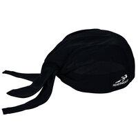 Headsweats 8800-802 Black 100% Performance Fabric Adjustable Chef Bandana / Do Rag