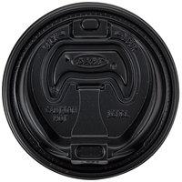 Dart 16RCLBLK Black Travel Lid with Reclosable Tab - 1000/Case