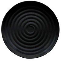 GET ML-82-BK Milano 10 1/4 inch Black Melamine Round Plate - 12 / Pack