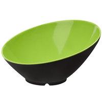 GET B-789-G/BK Brasilia 1.1 Qt. Green and Black Melamine Bowl - 6/Case