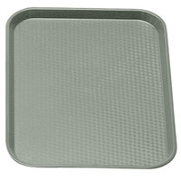Pearl Gray Cambro 1216FF107 12 inch x 16 inch Customizable Fast Food Tray 24/Case