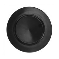 10 Strawberry Street LABLK-24 13 inch Lacquer Round Black Charger Plate - 24/Case