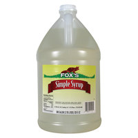 Fox's 1 Gallon Simple (Sugar) Syrup 4 - 1 Gallon Containers / Case