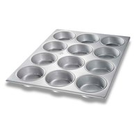 Chicago Metallic 44215 12 Cup Glazed Oversized Mini-Cake Muffin Pan - 15 1/2 inch x 20 1/2 inch