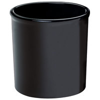 Cal-Mil 1950-16-13 Black 16 oz. Round Melamine Condiment Jar