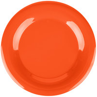 Carlisle 3302452 Sierrus 12 inch Sunset Orange Wide Rim Melamine Plate - 12/Case