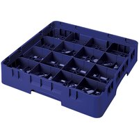Cambro 16S638186 Camrack 6 7/8 inch High Navy Blue 16 Compartment Glass Rack