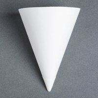 Dart Solo 156-2050 Bare Eco-Forward 7 oz. White Straight Edge Paper Cone Cup with Chipboard Box Packaging - 250 / Pack
