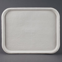 Huhtamaki Chinet 20804 Savaday 14 inch x 18 inch White Molded Fiber / Pulp Rectangular Tray - 100 / Case