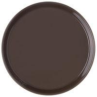 Carlisle 130001 13 inch Brown Round Melamine Serving Tray - 12/Case