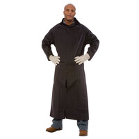 Black 2 Piece Rain Coat 49 inch - Large