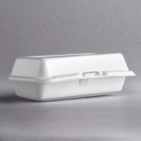 Dart Solo 72HT1 7 inch x 4 inch x 2 inch White Foam Hinged Lid Hot Dog Container - 125/Pack