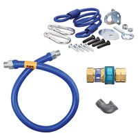 36 inch Dormont 1650BPQR Safety System SnapFast Gas Connector Kit with Coiled Restraining Device - 1/2 inch Diameter