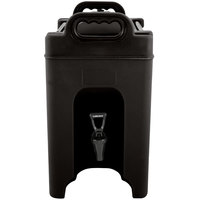Carlisle XT250003 2.5 Gallon Black Insulated Beverage Dispenser
