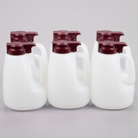 Tablecraft MW64M 64 oz. Option Dispenser with Maroon Top - 6/Pack
