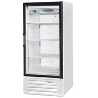 Beverage Air LV10-1-W-LED White LumaVue 24 inch Refrigerated Glass Door Merchandiser with LED Lighting - 10 Cu. Ft.