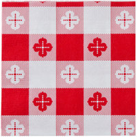 Hoffmaster 020398 Red Gingham Beverage / Cocktail Napkin - 1000/Case