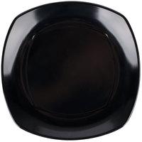 Carlisle 4330603 9 1/2 inch Square Upturn Black Melamine Plate - 48/Case
