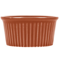 CAC RKF-3BWN Festiware 3 oz. China Fluted Ramekin Brown 48/Case