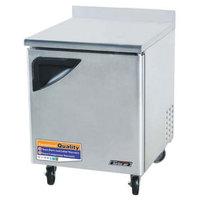Turbo Air TWR-28SD 27 inch Super Deluxe Single Door Worktop Refrigerator - 7 Cu. Ft.