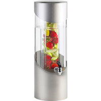 Cal-Mil 1990-3INF-55 3 Gallon Round Stainless Steel Beverage Dispenser with Infusion Chamber - 8 1/4 inch x 10 1/2 inch x 23 1/2 inch