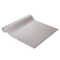 Cactus Mat 1051R-E4R Diamond Plate 4' Wide Anti-Slip Gray Vinyl Deckplate Runner Mat - 3/16 inch Thick
