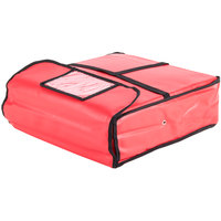 American Metalcraft PB1800 18 inch x 18 inch x 4 inch Standard Insulated Red Pizza Delivery Bag