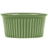 CAC RKF-2GRE Festiware 2 oz. Green China Fluted Ramekin - 48/Case