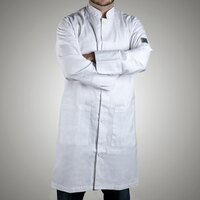 Chef Revival J034-2X Knife and Steel Size 52 (2X) Customizable Knee Length Tech Coat - Poly-Cotton Blend