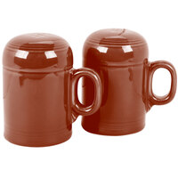 Homer Laughlin 756334 Fiesta Paprika Rangetop Salt and Pepper Shaker Set - 4/Case