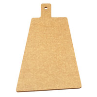 Cal-Mil 1535-12-14 Natural Trapezoid Flat Bread Serving / Display Board with Handle - 12 inch x 8 inch x 1/4 inch