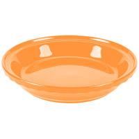 Homer Laughlin 487325 Fiesta Tangerine 10 1/4 inch Deep Dish Pie Baker - 4 / Case