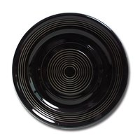 Tuxton CBA-074 Concentrix 7 1/2 inch Black China Plate - 24 / Case