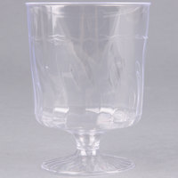 Fineline Flairware 2208 8 oz. Clear Plastic Wine Cup - 1 Piece 240 / Case