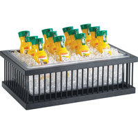 Cal-Mil 451-18 Pillared Ice Housing with Clear Pan - 26 inch x 18 inch x 8 inch