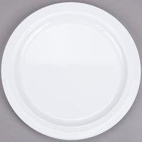 9 inch Narrow Rim Nustone Melamine Plate - White - 12/Pack