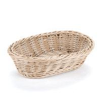 GET WB-1503-H 9 inch x 6 3/4 inch x 2 1/2 inch Designer Polyweave Honey Oval Basket - 12 / Case