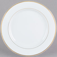 CAC GRY-8 Golden Royal 9 inch Bright White Round Porcelain Plate - 36/Case