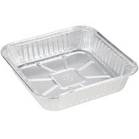 Durable Packaging 1100-30 9 inch Square Foil Cake Pan - 25/Pack