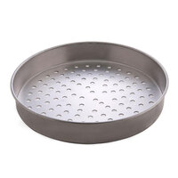 American Metalcraft A4009P 9 inch Perforated Straight Sided Pizza Pan - Standard Weight Aluminum