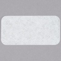 """Noble Products 1"""" x 2"""" Blank Dissolving Product Label with Dispenser Carton - 500/Roll"""