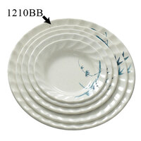 Blue Bamboo Melamine Curved Rim Plate – 10 1/2 inch 12 / Pack